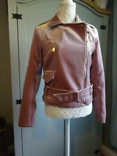 Ladies -  Dusty Pink Faux Suede Jacket - Lined  - Small 8-10