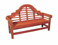 1:12 Wooden Lutyens Garden Bench Dolls House Miniature Garden Furniture