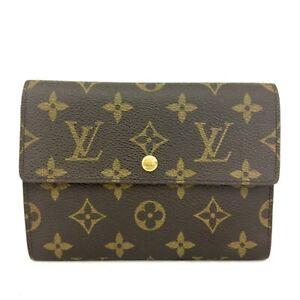 Louis Vuitton Monogram Porte Tresor Etui Papiers Trifold Wallet /C1074