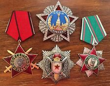 WWII ORDER OF VICTORY (rep.) + 3 Other Orders / Medals / Soviet Union / Bulgaria