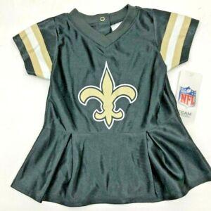 New Orleans Saints NFL Cheerleader Jersey Dress INFANT BABY NEWBRN Jersey 3-6M
