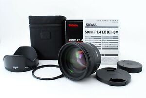 """""""Near Mint"""" Sigma AF 50mm f/1.4 EX DG HSM Lens for Canon EF w/Box From Japan"""