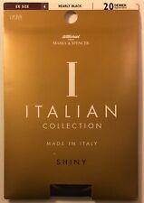 Marks & Spencer Italian Shiny Tights pantyhose Nearly Black Extra Large