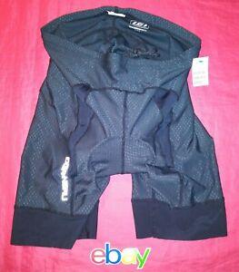 Louis Garneau GEL PADDED BLACK CYCLING Shorts Men's SZ XL Black NEW NWT !!