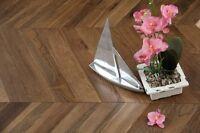 Oak Chevron Smoked &UV Oiled Flooring 90X18/4MM SR1804 Wood Floor Hardwood