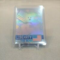 LIBEARTY The Bear TY Beanie Babies TRADING CARD 4057 - BBOC Series 2 Blue NM/M