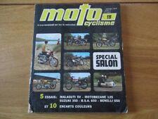 REVUE MOTOCYCLISME SPECIAL SALON 1970 MALAGUTTI 5V ENCARTS COULEURS BSA BENELLI