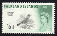 Falkland Islands 1/2d Birds Stamp c1960-66 Mounted Mint (hinged) (2762)