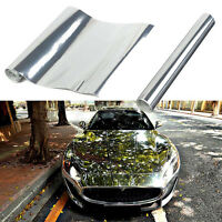 "6 x 60""Silver Chrome Mirror Vinyl Wrap Film Car Stickers Decal Sheet Bubble Free"