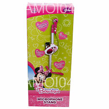 Minnie Mouse Bow-tique Microphone Stand Demo Songs For iPod, Mp3 Player New