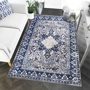 Super Area Rugs Contemporary Modern Medallion Area Rug in Gray