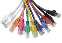 RJ45 Ethernet Lead Cat 5e Network Cable Patch 25cm 1m 2m 3m 5m 10m to 50m LOT