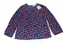 Crew Clothing Junior Girls Blue With Deer Pattern Amber Top 10-11 Years