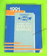 1991 Chevy Lumina APV Service Shop Repair Manual Book