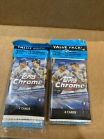 2020 MLB Topps Chrome Baseball Cello Value Pack Sealed - Lot Of 2 - In Hand