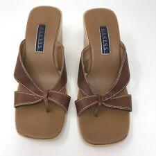 Bakers Brown Wedge Sandals 6.5