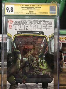 Teenage Mutant Ninja Turtles 95 cgc 9.8 2x signed and sketched Bishop & Eastman