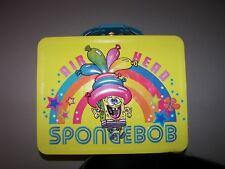"Spongebob Airhead Metal Lunch Box Lunchbox Yellow 7 5/8"" x 6""x 2 3/4"" EUC"