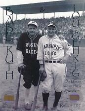 Babe Ruth & Lou Gehrig- Limited Edition Relic Card