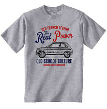 VINTAGE FRENCH CAR PEUGEOT 104 COUPE - NEW COTTON T-SHIRT