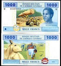 Central African State Cameroun 1000 1,000 Francs P 207 U Sign 20 Unc