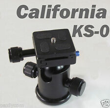Professional Camera KS-0 Tripod Ballhead with Quick Release Plate Ball Head KS0