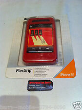IPHONE 3G/3GS rouge FLEXGRIP Silicone étui/housse/protection par GRIFFIN