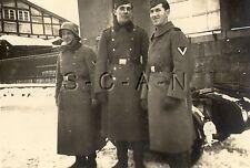 WWII German RP- Army Soldier- NCO- Helmet- Overcoat- License Plate- Motorcycle