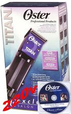 Oster Classic TITAN Hair Clipper 220v 76076-310 FREE DVD 2 Cryogen-X  Blades NEW