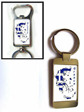 GREECE FLAG MAP KEYRING KEYFOB OR BOTTLE OPENER GIFT