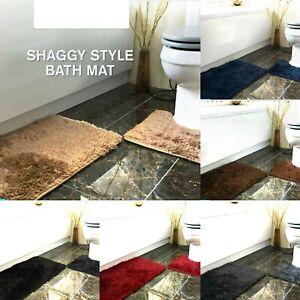 Luxury Shaggy Super Soft Bath Mat Sets Non Slip Water Absorbent Bathroom Rugs TN