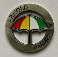 New Arnold Palmer Umbrella Milled Golf Ball Marker