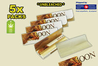 5 Packs - Moon Pure Hemp Unbleached Rolling Papers -
