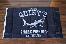 Jaws Quint's Banner Flag Shark Fishing Amity Island Movie Beach Quints Boat New