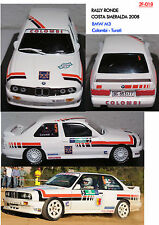 018 DECALS 1/43 BMW M3 COLOMBI - RALLY COSTA SMERALDA 2008
