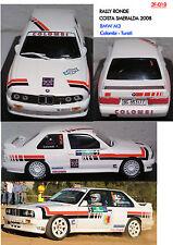 018 DECALS 1/43 BMW M3 COLOMBI - RALLY COSTA SMERALDA 2008