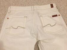 Seven 7 For All Mankind Women Jeans Boot Cut White Premium Denim 25 Cotton