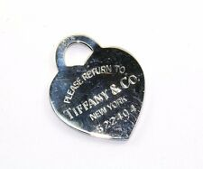 AUTHENTIC TIFFANY & CO PLEASE RETURN TO HEART PENDANT STERLING SILVER PD 206