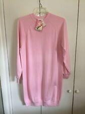 Vintage Bassett-Walker Thick T-Shirt Dress Womens  Sz XL 18-20 Pink USA NWT 1980
