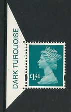GB 2010 Machin Definitives, £1.46 Turquoise, SG Y1745 with Colour Tab, MNH