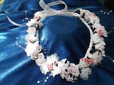 Rose/Baby Pink Flower Circlet - Wedding Halo, Flower Girl - by Valerie J