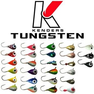 Ice Fishing Jigs Tungsten 4mm - #14 Hook Glow Jigs Panfish Jigs Assortment