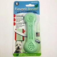 Pet Qwerks Flavorit Breath Nylon Dog Bone for Aggressive Chewers Mint Flavored