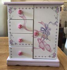 "Girls Pink Wardrobe Musical with Ballerina Jewellery Box ""Nutcracker'"