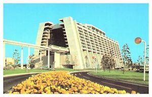 1973 Walt Disney World Contemporary Resort Monorail Trains Posted Postcard F7