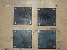 """QTY 4 STEEL BASE PLATES 1/4"""" x 5"""" x 5"""" WITH 4 HOLES"""
