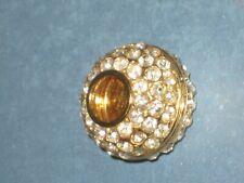 GOLD AND RHINESTONE JEWELRY BALL - FOR JEWELRY MAKING