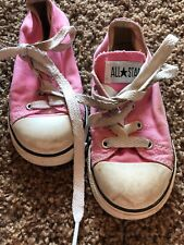 Converse All-Star Youth Girl's Lace Up Sneakers Pnk/Wht Size 9