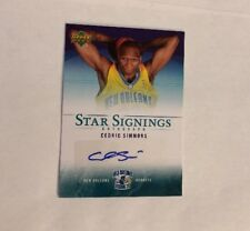 2007 UPPER DECK STAR SIGNINGS CEDRIC SIMMONS AUTOGRAPH SS-CS