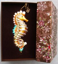 Jay Strongwater Seahorse Ornament Swarovski Elements New In Box